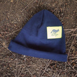 Runyon Neon Navy Reflective Cuff Hats made in usa fitness wear running hiking yoga outdoors runyon canyon apparel | Runyon Canyon Apparel