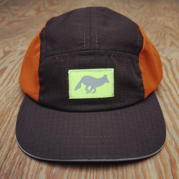 Runyon Rad Refective Burnt Woods Camp Hat made in usa fitness wear running hiking yoga outdoors runyon canyon apparel