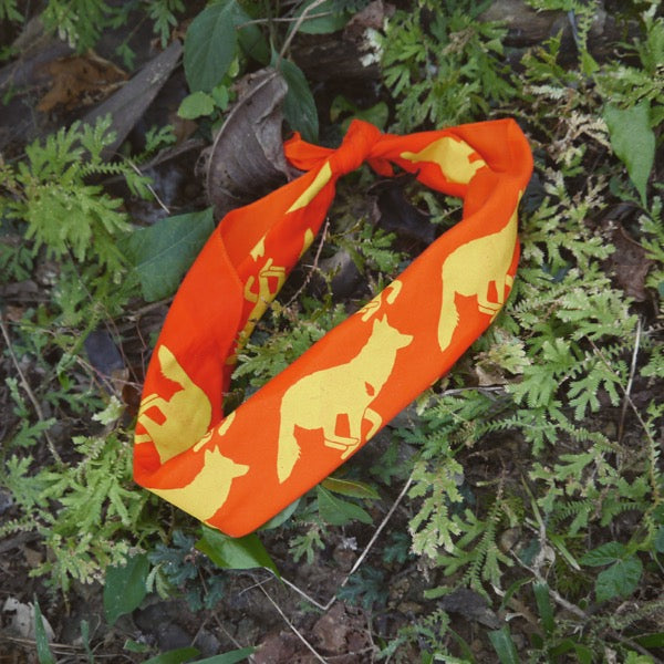 Runyon Orange Sonice Citrus Signature Bandana made in usa fitness wear running hiking yoga outdoors runyon canyon apparel