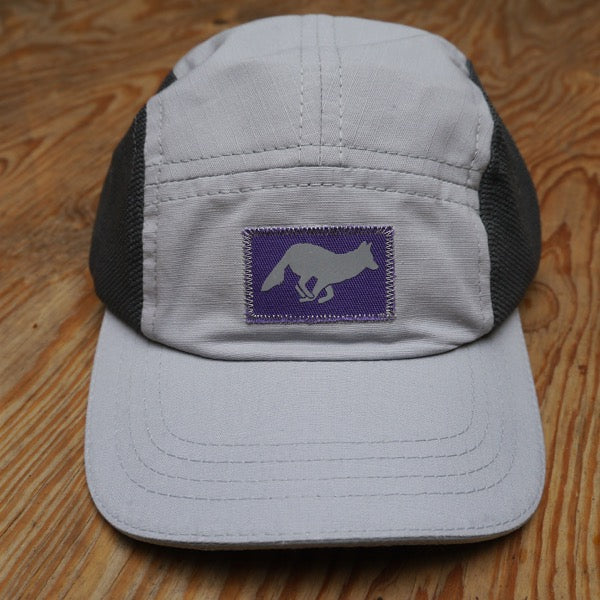 Runyon Rad Reflective Purple Stone Camp Hat made in usa fitness wear running hiking yoga outdoors runyon canyon apparel