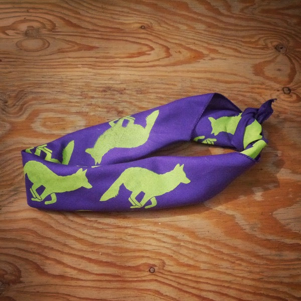Runyon Purple Neon Bandana made in usa fitness wear running hiking yoga outdoors runyon canyon apparel
