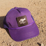 Runyon Purple Woods Vintage Sweatband Trucker Hat made in usa fitness wear running hiking yoga outdoors runyon canyon apparel