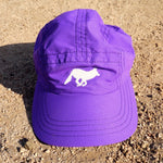 Runyon Purple Performance Running Cap made in usa fitness wear running hiking yoga outdoors runyon canyon apparel