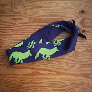 Runyon Navy Lime Stone Signature Bandana made in usa fitness wear running hiking yoga outdoors runyon canyon apparel