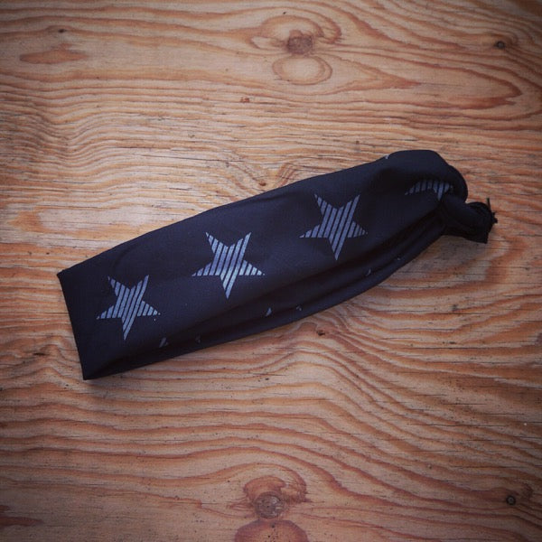 1984 Reflective Striped Star Ninja Bandana