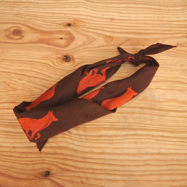 Runyon Woodsy Brown Signature Bandana made in usa fitness wear running hiking yoga outdoors runyon canyon apparel