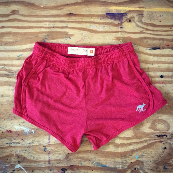 Runyon Women's Strawberry Haze Fitness Shorts made in usa fitness wear running hiking yoga outdoors runyon canyon apparel