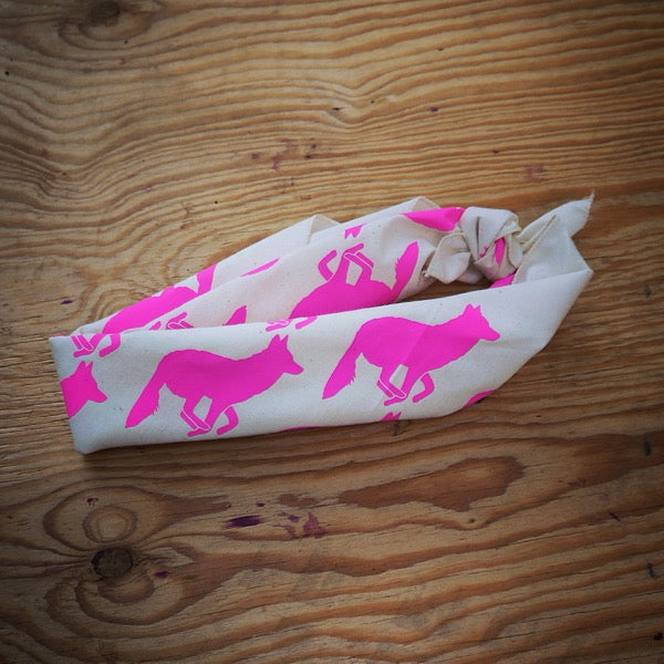 Signature Totally Hot Pink Natural Bandana
