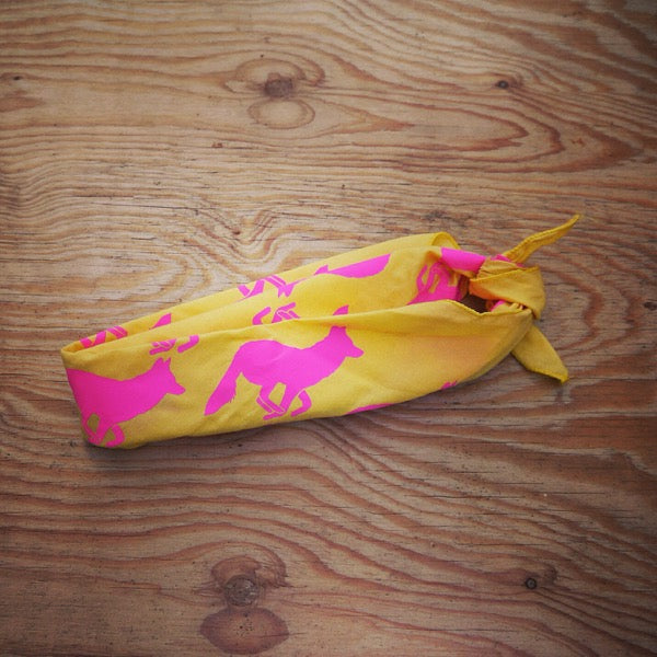 Signature Totally Hot Pink Yellow Bandana
