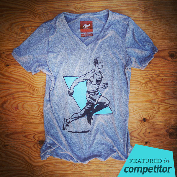 Runyon Women's Vintage 1932 Olympics Performance Fitness Shirt made in usa fitness wear running hiking yoga outdoors runyon canyon apparel