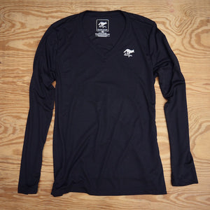 Runyon Black Long Performance Training Fitness Shirt made in usa fitness wear running hiking yoga outdoors runyon canyon apparel
