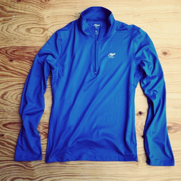 Runyon Women's Cobalt Blue Performance Running Zip made in usa fitness wear running hiking yoga outdoors runyon canyon apparel