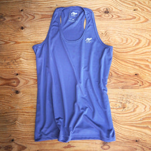 Runyon Women's Grey Stone Performance Fitness Tank made in usa fitness wear running hiking yoga outdoors runyon canyon apparel