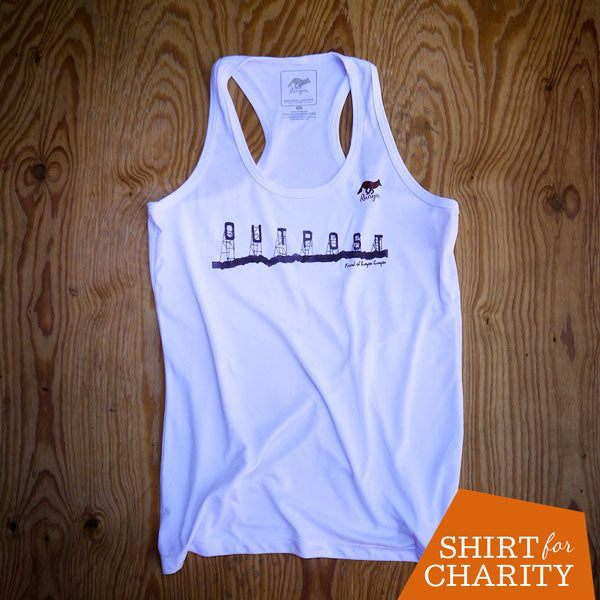 Runyon Women's Historic Outpost Sign Performance Running Fitness Tank made in usa fitness wear running hiking yoga outdoors runyon canyon apparel