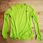 Runyon Women's Lime Green Long Trail Performance Shirt made in usa fitness wear running hiking yoga outdoors runyon canyon apparel