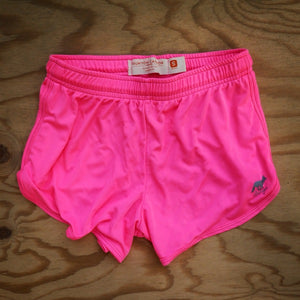 Runyon Women's Totally Hot Pink Basic Training Performance Running Shorts made in usa fitness wear running hiking yoga outdoors runyon canyon apparel