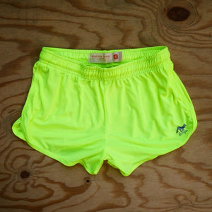 Runyon Women's Neon Basic Training Performance Running Shorts made in usa fitness wear running hiking yoga outdoors runyon canyon apparel