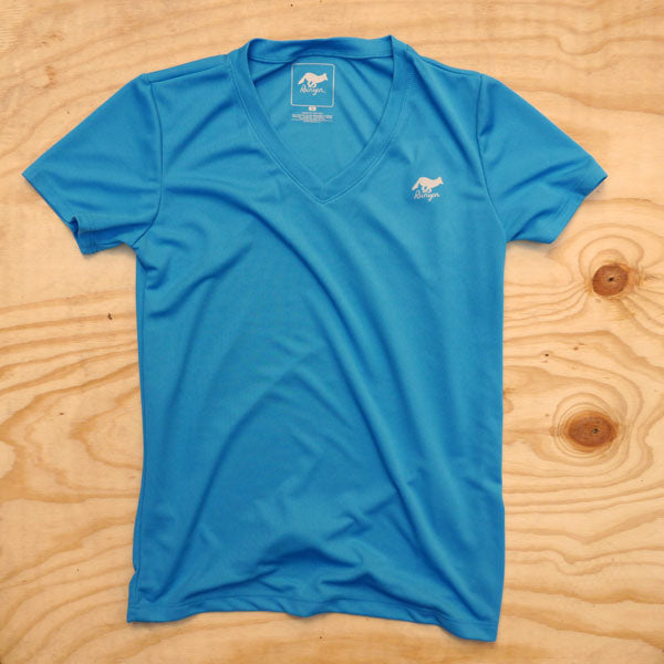 Runyon Women's Turquoise Performance Trail Shirt made in usa fitness wear running hiking yoga outdoors runyon canyon apparel