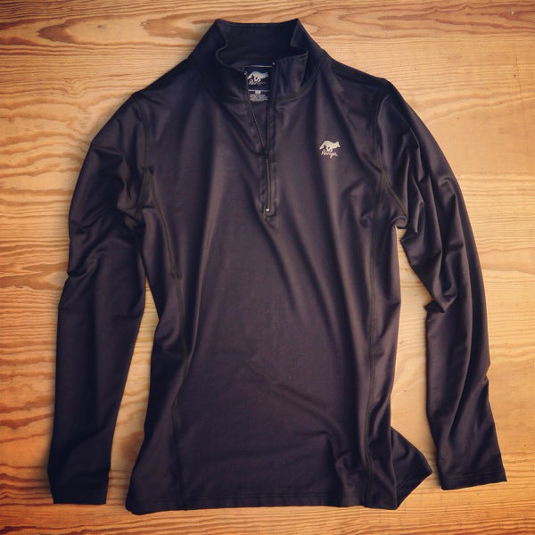 Runyon Women's Black Performance Running Zip made in usa fitness wear running hiking yoga outdoors runyon canyon apparel