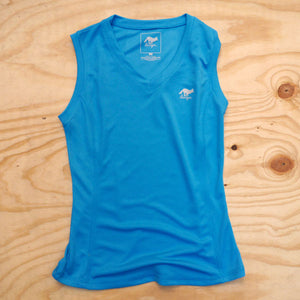 Runyon Women's Turquoise Performance Workout Tank made in usa fitness wear running hiking yoga outdoors runyon canyon apparel