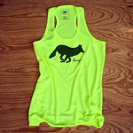 Runyon Women's Neon Forest Yoga Running Tank made in usa fitness wear running hiking yoga outdoors runyon canyon apparel