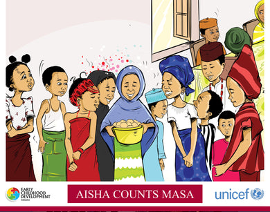 Aisha Counts Masa (Dual Language- English / Hausa) - Partner-2-Play