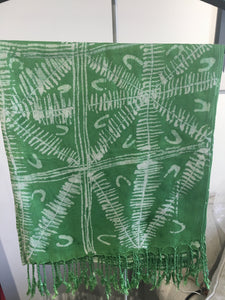 Hand made Nigeria Tye Dye Scarf (leaf) - ECDresource