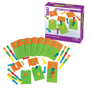 PlayMonster Number Puzzle Boards and Pegs. Early years - Partner-2-Play