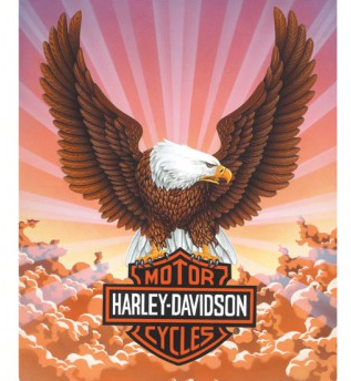 H-D® Eagle w/ Clouds Embossed Tin Sign
