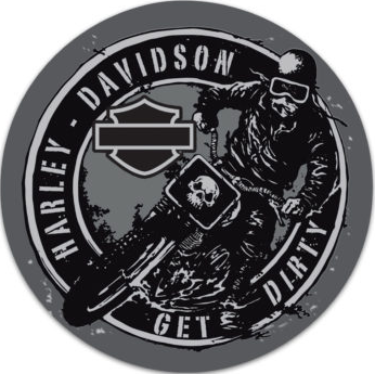 "Harley-Davidson® ""Get Dirty"" Tin Sign"