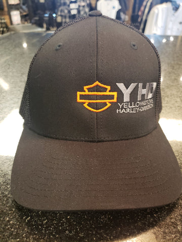 Yellowstone Harley-Davidson Custom Hat, Black on Black
