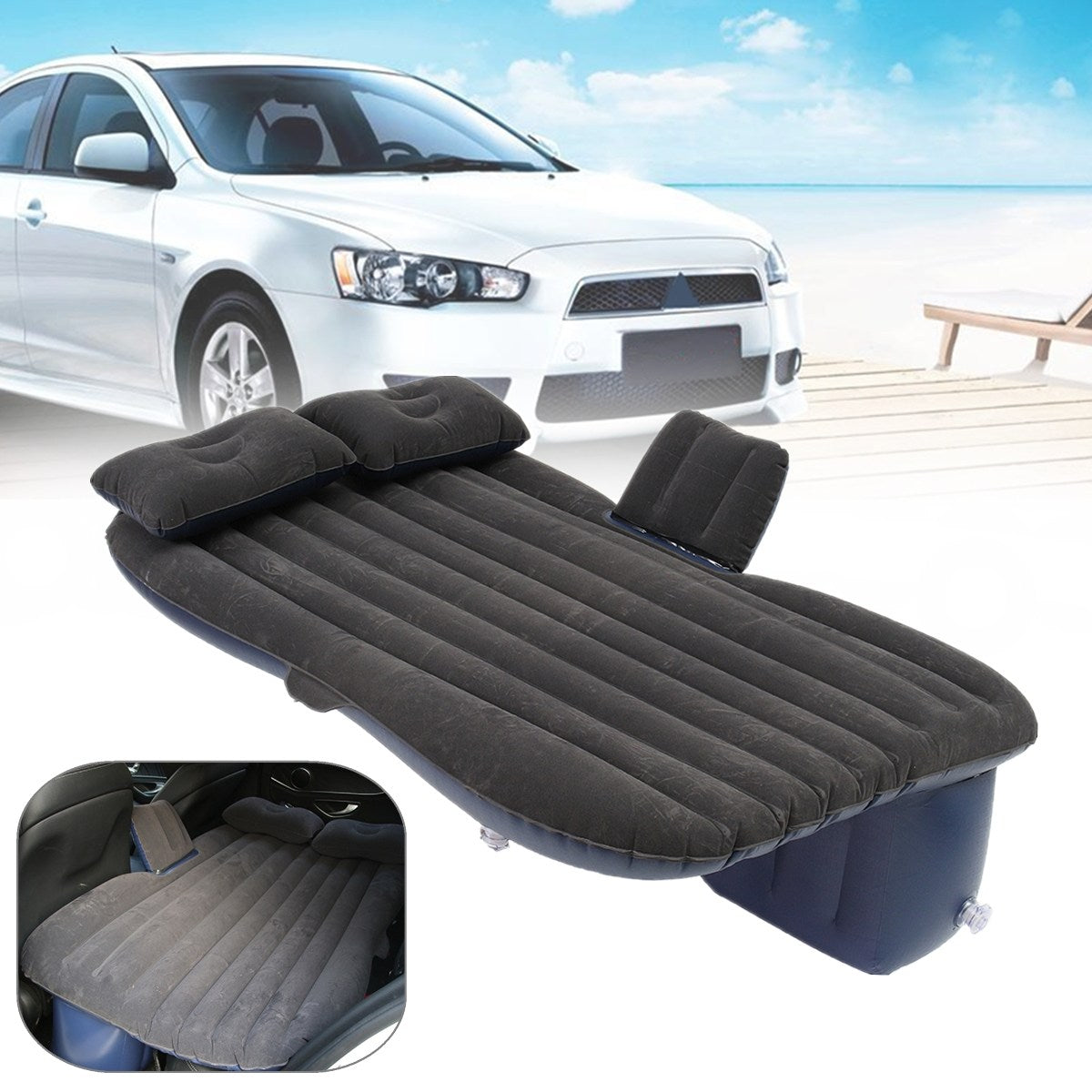 Car Back Seat Inflatable Bed - 60% OFF!