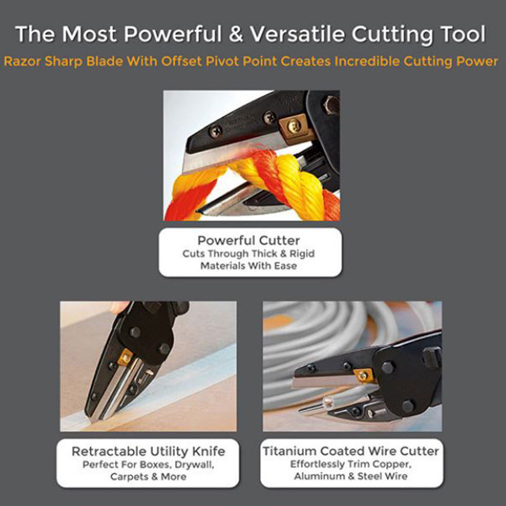 3 in 1 Power Cutting Tool With Built-In Wire Cutter And Utility Knife