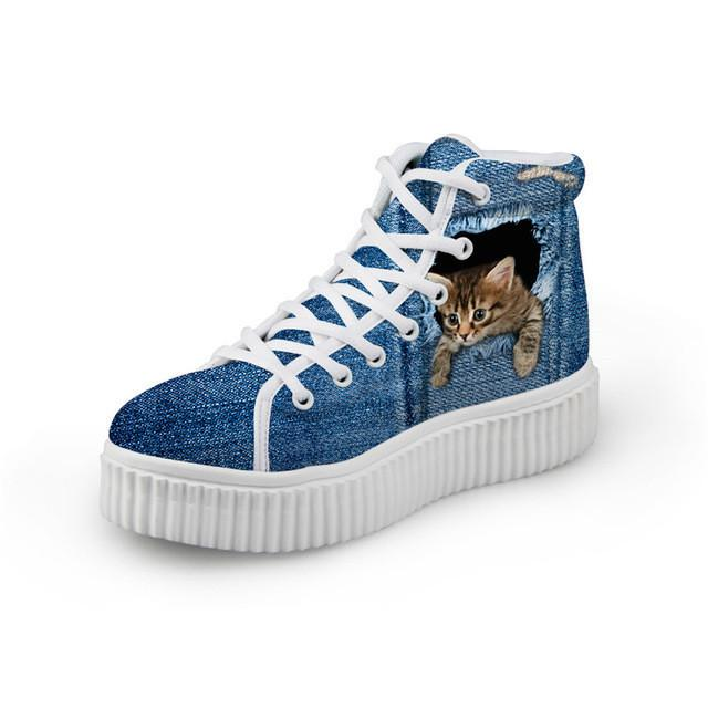 Cat Women's High Top Shoes