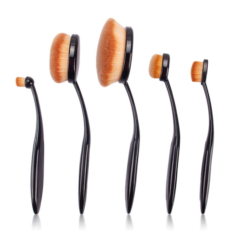 5Pcs Makeup Brushes Oval Set