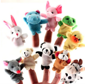 10 Pieces Fun Animals Finger Puppets