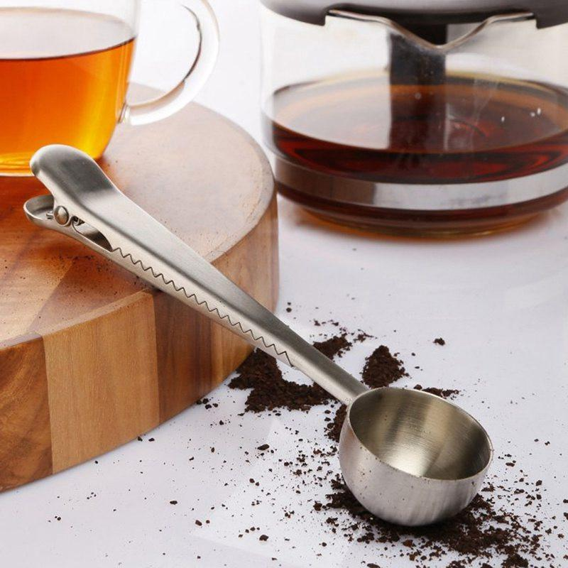 Stainless Steel Coffee Scoop with Bag Clip - 55% OFF