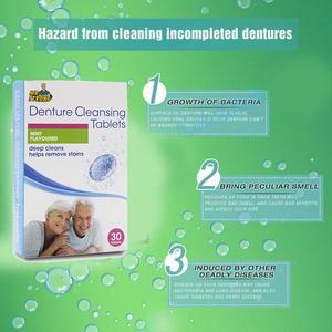 Effervescent Denture Cleansing Tablets - 70%OFF!
