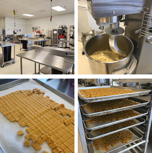 Various pictures of the fully licensed commercial kitchen we use to make dog treats