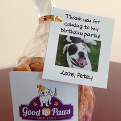 Personalized Birthday party favor dog treat bag