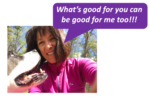 """""""What's good for you (looking at the dog) can be good for me too!"""""""