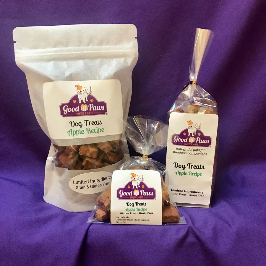 Grain free apple dog treats - all sizes - Good Paws Bakery