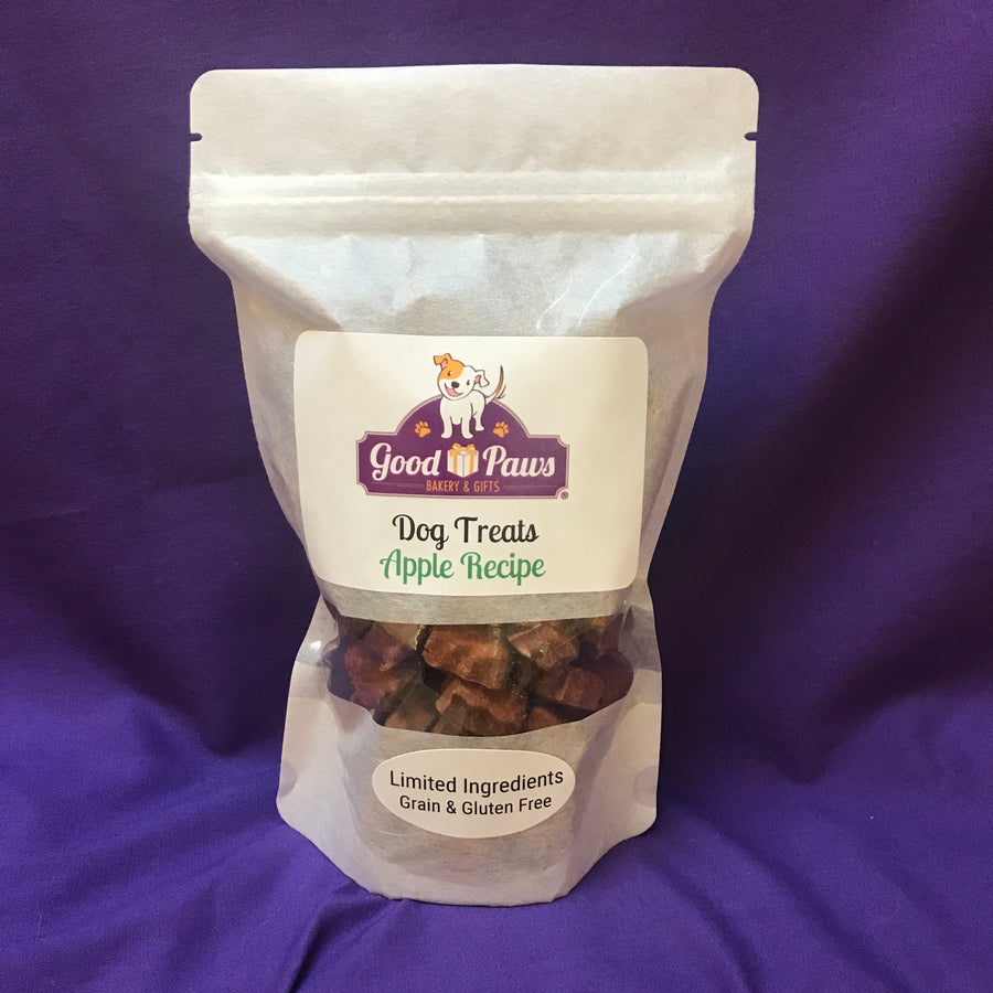 Grain free apple dog treats - large size - Good Paws Bakery
