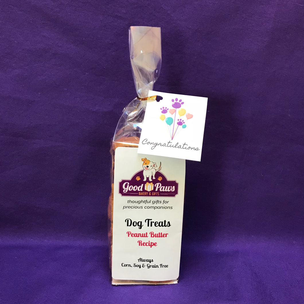 Congratulations Dog Treat Bag