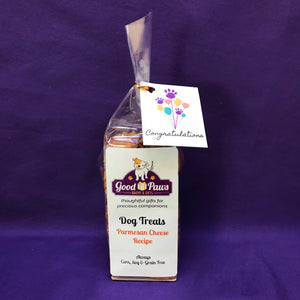 Grain Free dog treats - Congratulations Parmesan Cheese treats - Good Paws Bakery