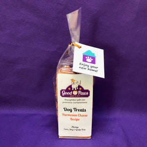 Grain Free dog treats - Enjoy your new home - Parmesan Cheese treats - Good Paws Bakery