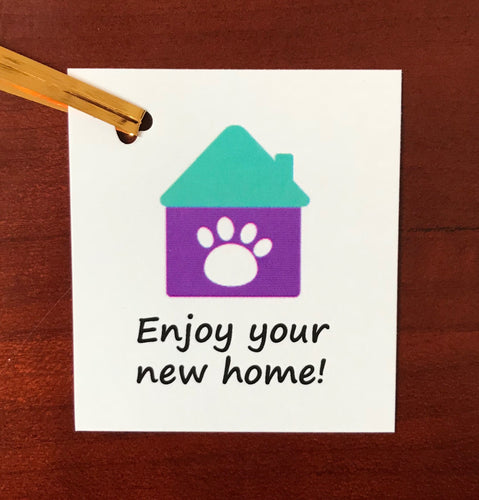 Grain Free dog treats - Enjoy your new home tag - Good Paws Bakery