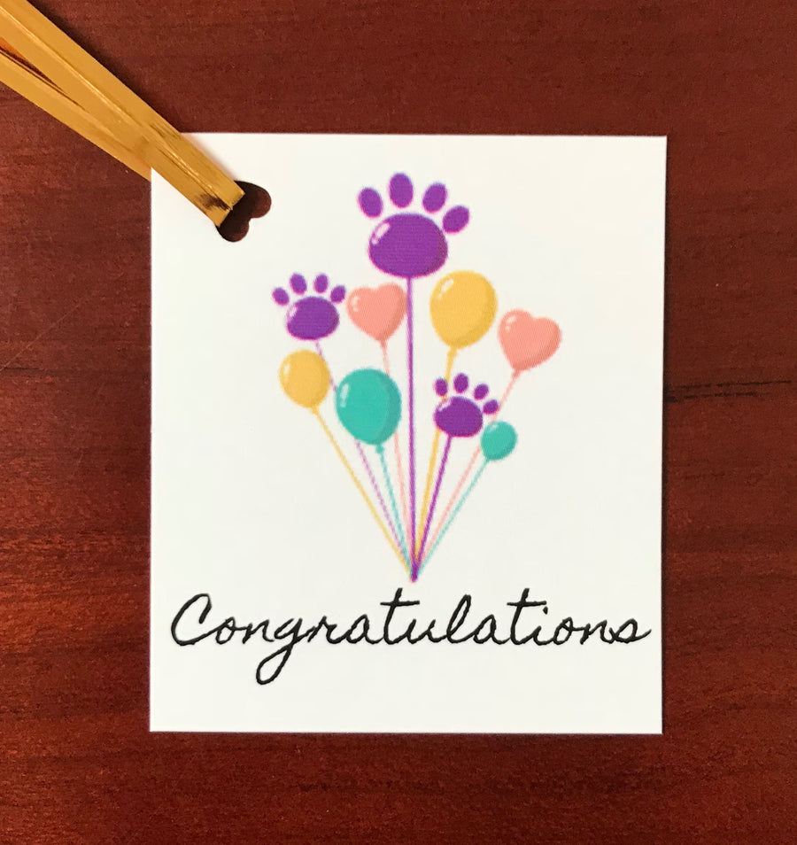 Grain Free dog treats - Congratulations tag - Good Paws Bakery