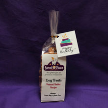 Grain Free dog treats - Peanut Butter Recipe - Happy Birthday Cake tag - Good Paws Bakery