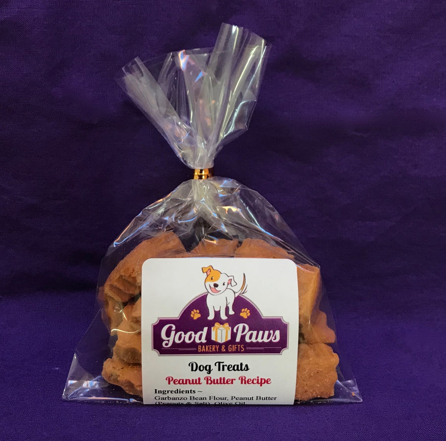 Grain free peanut butter dog treats - small size - Good Paws Bakery
